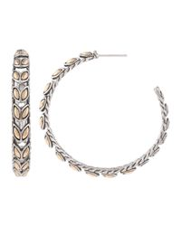 John Hardy | Metallic Padi Gold & Silver Hoop Earrings | Lyst