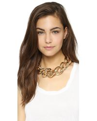 Kenneth Jay Lane | Metallic Oversized Chain Necklace - Gold | Lyst