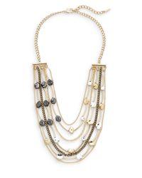 Saks Fifth Avenue | Metallic Mixed Pebble Bib Necklace | Lyst