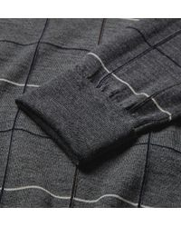 Dunhill - Gray Windowpane Check Wool Rollneck Sweater for Men - Lyst