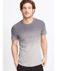 Vince | White Ombré Geo Print Crew Neck Tee for Men | Lyst