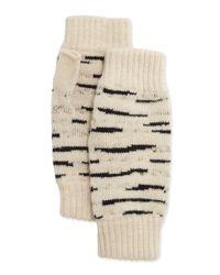 Rosie Sugden | Natural Cashmere Tiger-stripe Fingerless Gloves | Lyst
