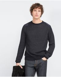 Zara | Black Structured Sweater for Men | Lyst