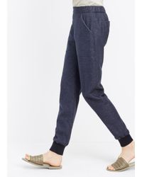 VINCE | Blue Patch Pocket Jogger | Lyst