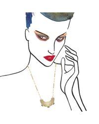 Aesa | Metallic Imperial Pearl Pendant | Lyst
