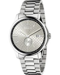 Gucci Metallic Ya126320 Timeless Stainless Steel Watch for men