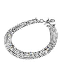 David Yurman | Metallic Renaissance Toursade Necklace With Gold | Lyst