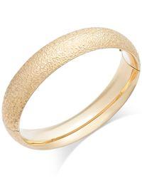 Macy's | Metallic Crystal-cut Hinge Bangle Bracelet In 14k Gold | Lyst