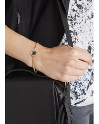 Marc By Marc Jacobs | Metallic Logo Disc-o Black Enamel Bracelet | Lyst