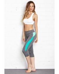 Forever 21 - Gray Colorblocked Running Leggings - Lyst