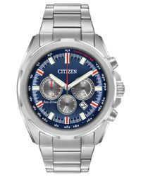 Citizen - Metallic Men's Chronograph Eco-drive Stainless Steel Bracelet Watch 43mm Ca4220-80l for Men - Lyst