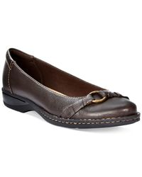 Clarks | Brown Collection Women's Pegg Alba Flats | Lyst