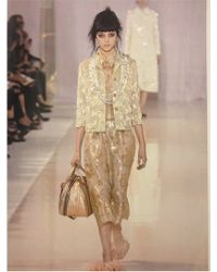 Rochas | Metallic Floral Embroidered Silk Nigel Dress | Lyst