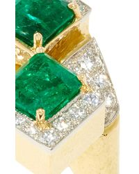 David Webb - Green Couture Emerald Ring - Lyst