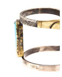 Beth Orduna - Metallic Textured Cuff - Lyst