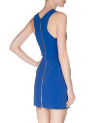 Roland Mouret - Blue Pleated Stretch-crepe Halter Dress - Lyst