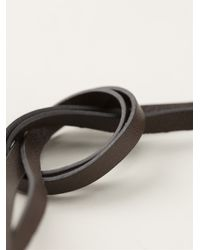 Lanvin - Black Curved Hanging Tie Necklace - Lyst