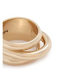 St. John - Metallic Concentric Tubular Ring - Lyst