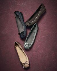 Stuart Weitzman - Metallic Shoestring Plaid Ballet Flats - Lyst