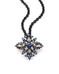 Oscar de la Renta | Black Pear Crystal Convertible Brooch/pendant Necklace | Lyst