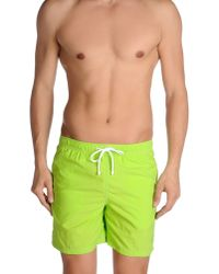 Armani - Green Swimming Trunk for Men - Lyst