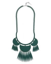 BaubleBar | Green Fluoro Tassel Dreamcatcher Bib | Lyst