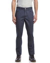 Perry Ellis | Blue Low-Rise Slim Fit Straight Leg Pants for Men | Lyst