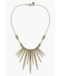 Sam Edelman | Metallic Spike Frontal Necklace | Lyst