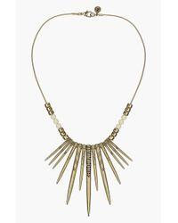 Sam Edelman - Metallic Spike Frontal Necklace - Lyst