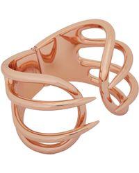 Balenciaga | Metallic Hinged Cage Cuff | Lyst