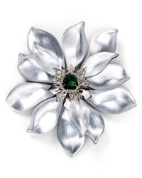 Alexis Bittar - Metallic Crystal Encrusted Lucite Articulating Flower Pin - Lyst