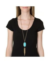 Kendra Scott | Metallic Rayne Necklace, Black | Lyst