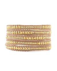 Chan Luu - Metallic Gold Mix Wrap Bracelet - Lyst