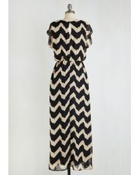 Teenplo | Miracle Maxi Dress In Black And Beige | Lyst