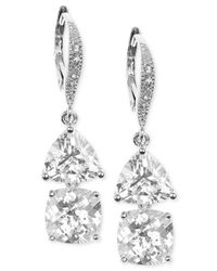 Judith Jack - Metallic Sterling Silver Crystal Double Drop Earrings - Lyst
