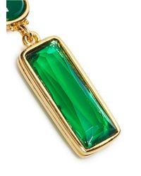 Kenneth Jay Lane | Green Cabochon Stone Drop Earrings | Lyst