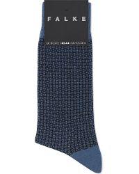 Falke | Blue Dot Weave-patterned Socks for Men | Lyst