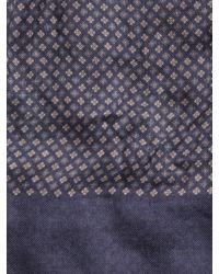 John Varvatos | Blue Cashmere Geometric Scarf for Men | Lyst