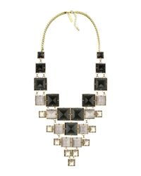 Kendra Scott | Black Maddox Statement Necklace | Lyst