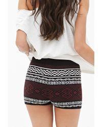 Forever 21 - Black -inspired Sweater Shorts - Lyst