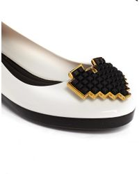 Melissa - Colour Feeling Heart White Flat Shoes - Lyst