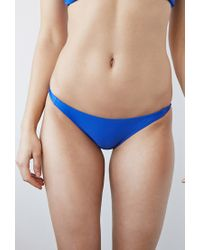Forever 21   Blue Knotted Side Cheeky Bottoms   Lyst