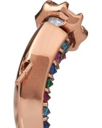 Katie Rowland - Pink Carmilla Rose Gold-Plated Crystal Earrings - Lyst