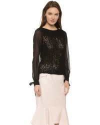 Nina Ricci - Long Sleeve Blouse - Black - Lyst