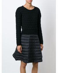 Moncler | Black 'mocler' Sweater Dress | Lyst