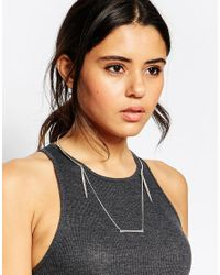 ASOS - Metallic Open Collar Necklace With Fine Bars - Lyst