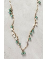 Anthropologie | Green Pearled Franja Strand | Lyst