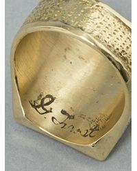 George Frost - Metallic Victory Ring Brass for Men - Lyst