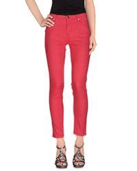 Les Copains - Pink Denim Trousers - Lyst
