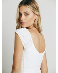 Free People | White Womens Eyelet Bodycon Dress | Lyst